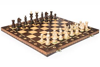Подарочный набор шахмат консул польша, дерево, 48х48см