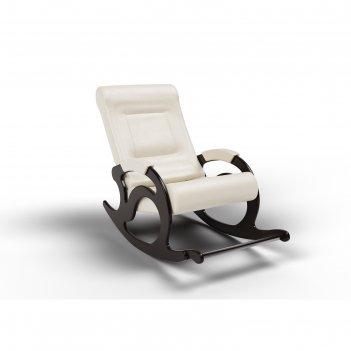 Кресло-качалка «тироль», 1320 x 640 x 900 мм, экокожа, цвет крем