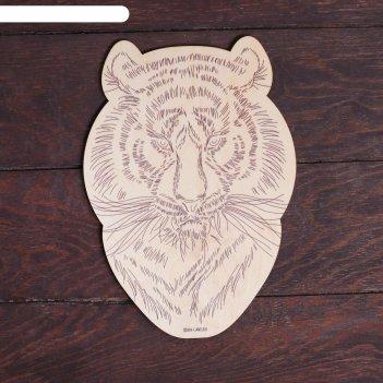 Заготовки для творчества. доска для выжигания тигр, т1006