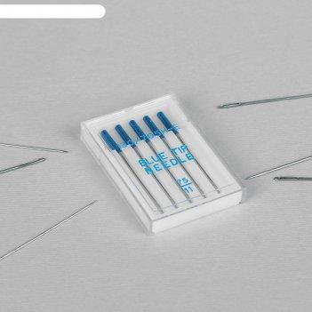 Иглы для бытовых швейных машин «голубая игла», для тонких тканей, №75/11,