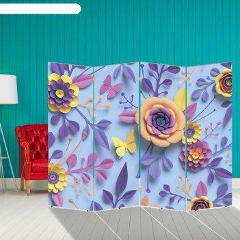 Ширма цветы, 200 x 160 см