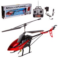 Вертолет радиоуправляемый воздушный путешественник, с аккумулятором, цвета