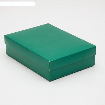 Коробка картонная без окна 21 х 15 х 5,7,изумрудный