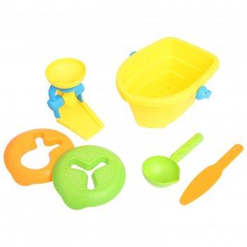 Песочный набор лодочка, 6 предметов, микс