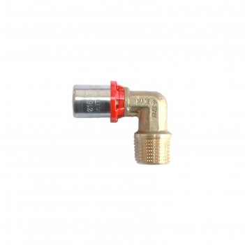Угольник-пресс tdm brass 1675 0132, 1 х 32 мм, наружная резьба, латунь