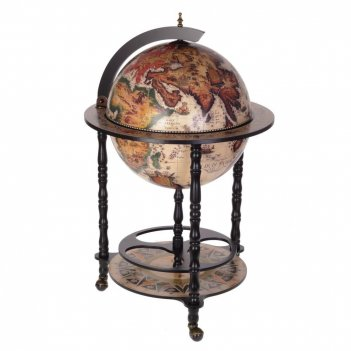Глобус-бар, l58,5 w58,5 h93,5 см