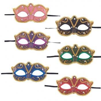 Карнавальное изделие для взрослых маска, l16 h11 см