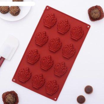 Форма для льда и шоколада корона, 12 ячеек