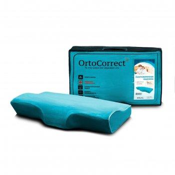 Анатомическая  подушка ortocorrect ideal с центральной п-образной выемкой