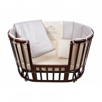 Комплект в кроватку prestigio atlante, 6 предметов, цвет серый