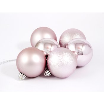 """Набор ёлочных игрушек """"шары"""" из 6шт. 60мм, серебро"""