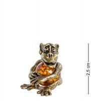 Am-483 фигурка обезьяна (латунь, янтарь)