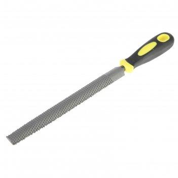 Рашпиль fit, прорезиненная ручка, полукруглый, 200 мм