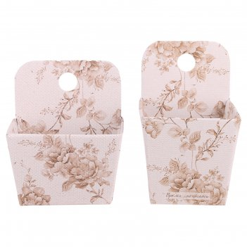 Набор подвесных коробок–органайзеров «радуйся мелочам», 12 х 14,5 х 8,5 см