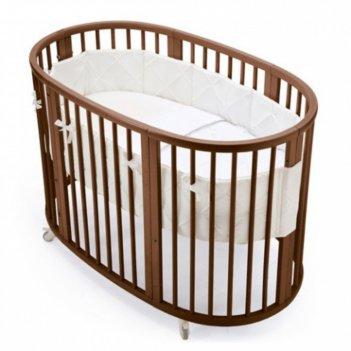 Кроватка-трансформер 6 в 1 merryhappy круглая/овальная, матовая, цвет венг