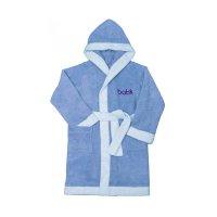 Халат банный для мальчика, рост 122 см, цвет голубой м0001/11