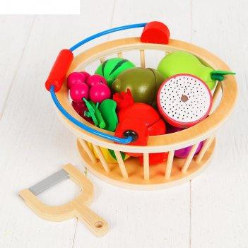 Игровой набор фрукты в корзине