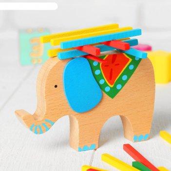 Баланс слоник с поклажей, в наборе 40 палочек, размер слона: 13 x 9 x 1,9