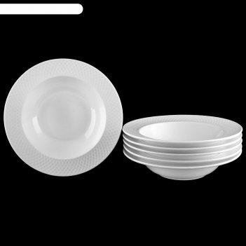 Набор тарелок глубоких «юлия высоцкая», 400 мл, 6 шт, 22,5 см