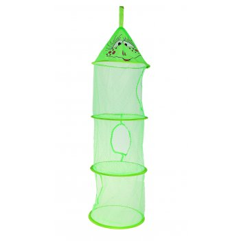 Корзина для игрушек подвесная лягушка, 3 отделения, цвет зеленый