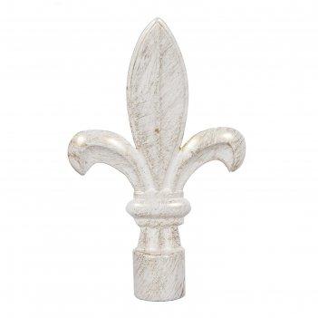 Наконечник «бутон», 2 шт, диаметр 16 мм, цвет слоновая кость/золото