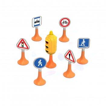 Набор дорожные знаки №1, светофор, 6 знаков