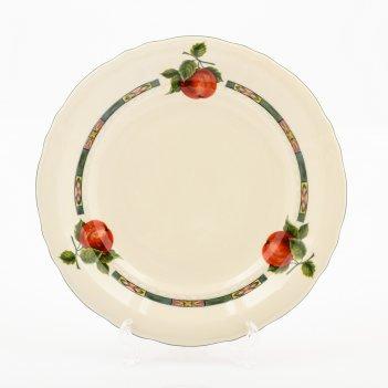 Набор тарелок leander соната фруктовый сад слоновая кость 21 см(6 шт)