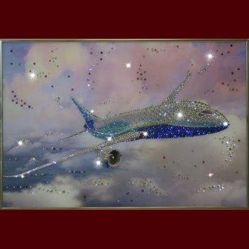 Картина сваровски - самолет