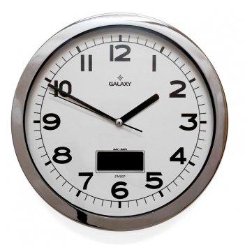 Настенные часы с термометром galaxy mkt-1964-3