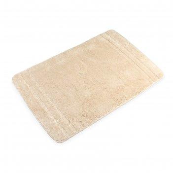 Коврик для ванной, комнаты 60х90 см solo beige