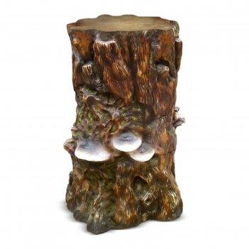 Садовая фигура пень большой с грибами (ламинат)