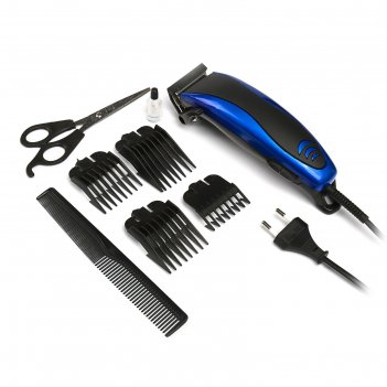 Машинка для стрижки волос luazon ltri-14, 4 уровня стрижки, 15 вт, синий,