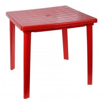 Стол квадратный, размер 80 х 80 х 74 см, цвет красный