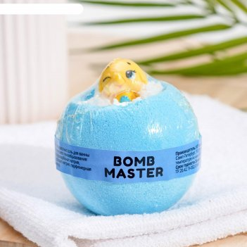 Бомбочка для ванн bomb master веселые зверята синяя, 130 гр.