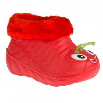 Галоши детские эва арт. у1_08, цвет красный, размер 29