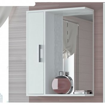 Шкаф-зеркало эко-55 20 х 50 х 75 см, белый левый