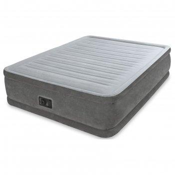 Матрас надувной comfort-plush queen 152х203х33 см, со встроенным насосом 2