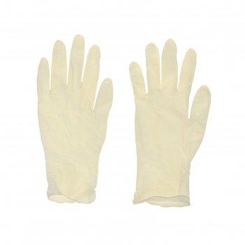 Перчатки хозяйственные с напылением, 10 шт размер m
