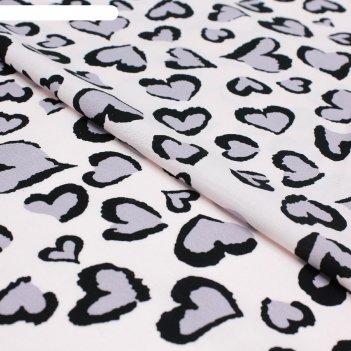 Ткань сорочечная, стрейч набивной, ширина 150 см, светло-розовый, rh 23/04