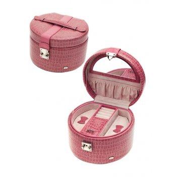 Шкатулка для украшений, цвет бежево-розовый, лакированная
