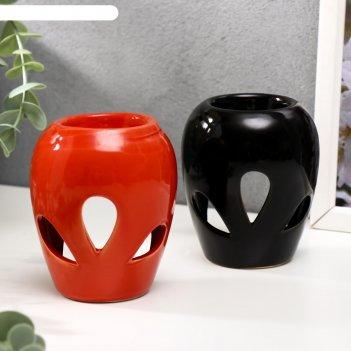 Аромалампа керамика лепестки микс 9,3х7,5х7,5 см