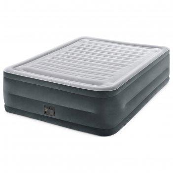 Кровать надувная comfort-plush queen 152х203х56 см, со встроенным насосом