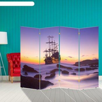 Ширма корабли. декор 30 200 x 160 см, двухсторонняя