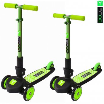 Самокат трехколесный y-scoo trio maxi 120 green