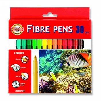 Фломастеры 30 цветов koh-i-noor 1002/30 водный мир, картонная упаковка, ев