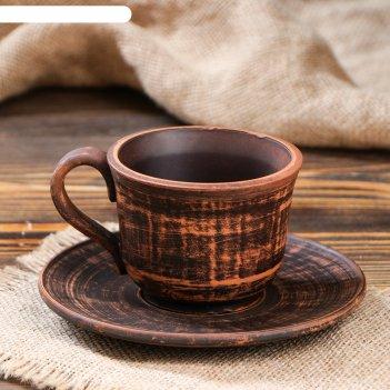 Чашка кофейная с блюдцем гладкая, 0,15 л