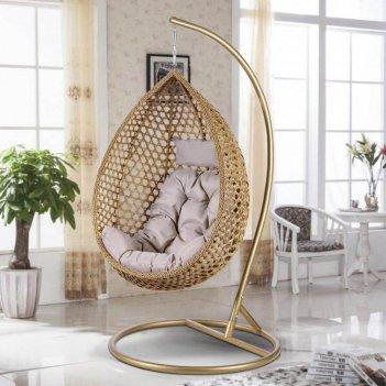 Подвесное кресло cocoon chair 319 beige, садовая мебель