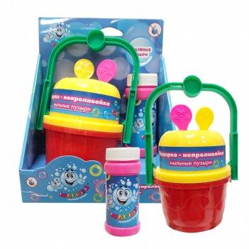1toy мы-шарики! ведёрко-непроливайка для мыл.пуз., 2 венчика, бут. 60мл, к