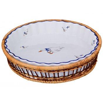 Блюдо для запекания на подставке диаметр=28 см высота=5 см (кор=8шт.)