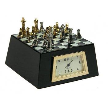 Часы настольные шахматы 7*7*4см